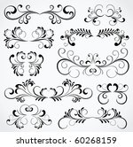 set of floral elements for... | Shutterstock .eps vector #60268159