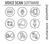 voiceover or voice command icon ... | Shutterstock .eps vector #602690942
