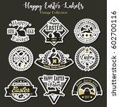 vector happy easter labels... | Shutterstock .eps vector #602700116