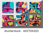 artistic funky design for print ... | Shutterstock .eps vector #602704202