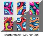 artistic funky design for print ... | Shutterstock .eps vector #602704205