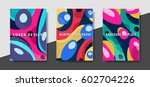artistic funky design for print ... | Shutterstock .eps vector #602704226