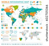 world map | Shutterstock .eps vector #602705366