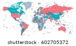 world map | Shutterstock .eps vector #602705372