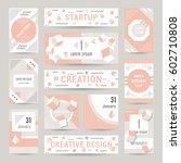 elegant modern flyers and cards ... | Shutterstock .eps vector #602710808