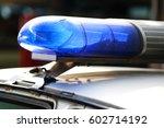 light bar on a police car   Shutterstock . vector #602714192