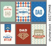 card template for father's day  ... | Shutterstock .eps vector #602719448