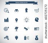 business solutions   vector... | Shutterstock .eps vector #602725172