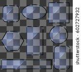 vector different glass banners...   Shutterstock .eps vector #602727932