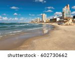 tel aviv beach with a view of... | Shutterstock . vector #602730662