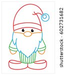 vector coloring book of gnome   Shutterstock .eps vector #602731682