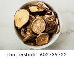 dried shiitake mushroom   Shutterstock . vector #602739722