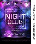 neon sign. night club disco... | Shutterstock .eps vector #602741012