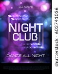 neon sign. night club disco... | Shutterstock .eps vector #602741036