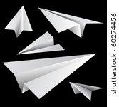 paper planes. vector. | Shutterstock .eps vector #60274456