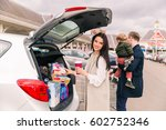 family at shopping . family on...   Shutterstock . vector #602752346
