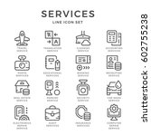 set line icons of services... | Shutterstock . vector #602755238
