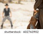 duel between cowboys. affair of ... | Shutterstock . vector #602763902