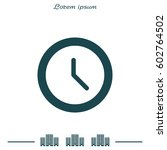 clock icon   vector... | Shutterstock .eps vector #602764502