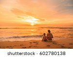 young woman and boy  mother and ... | Shutterstock . vector #602780138