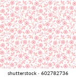 floral pattern. pretty flowers... | Shutterstock .eps vector #602782736