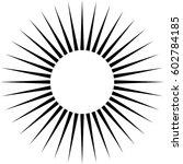 radiating circular lines... | Shutterstock .eps vector #602784185