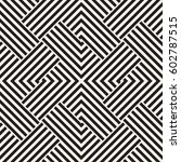 repeating geometric stripes... | Shutterstock .eps vector #602787515