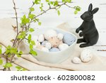 chocolate easter eggs. easter... | Shutterstock . vector #602800082