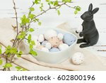 chocolate easter eggs. easter... | Shutterstock . vector #602800196