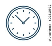 clock vector icon | Shutterstock .eps vector #602810912