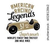 racing car t shirt graphics  ... | Shutterstock .eps vector #602812862