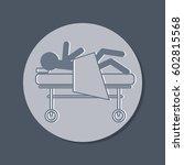 sick man in bed. hospital... | Shutterstock .eps vector #602815568