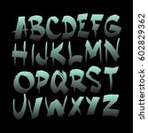 graphic font for your design.... | Shutterstock .eps vector #602829362