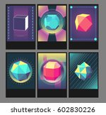 trendy vector hipster posters.... | Shutterstock .eps vector #602830226