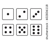 flat icon dice with rounded... | Shutterstock .eps vector #602836118