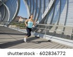 young beautiful and athletic... | Shutterstock . vector #602836772