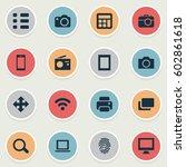 vector illustration set of... | Shutterstock .eps vector #602861618