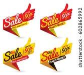 big sale price offer deal... | Shutterstock .eps vector #602865992