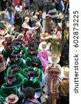 arequipa peru march 2007 people ... | Shutterstock . vector #602873225