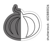 pumpkin vegetable icon | Shutterstock .eps vector #602880026