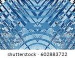 art grunge blue abstract... | Shutterstock . vector #602883722
