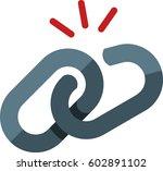 broken link icon | Shutterstock .eps vector #602891102