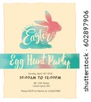 happy easter lettering with... | Shutterstock .eps vector #602897906