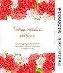 vintage delicate invitation... | Shutterstock . vector #602898206