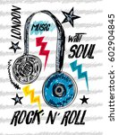 london rock and roll music t... | Shutterstock .eps vector #602904845
