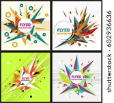 low poly flyer style background ... | Shutterstock .eps vector #602936636