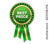 gold best price badge   rosette ... | Shutterstock .eps vector #602938196