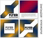 halftone flyer style background ... | Shutterstock .eps vector #602941442