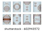 save the date. set of postcards ...   Shutterstock .eps vector #602943572