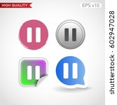 colored icon or button of pause ... | Shutterstock .eps vector #602947028
